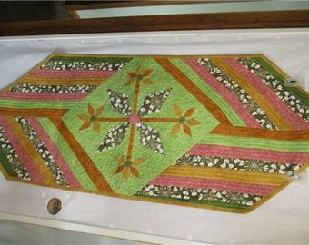 Handcrafted, quilted & appliqued table runner.