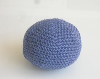 Ball dog ball with Quietschi - dog toys - toys - crochet-