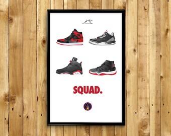 """Air Jordan """"Squad"""" Poster"""