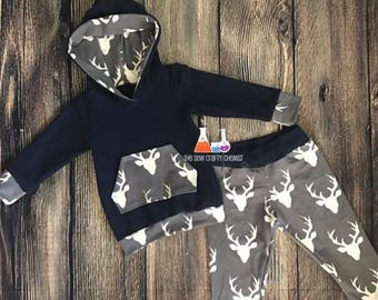 Hoodie and Jogger Style Pants- Baby