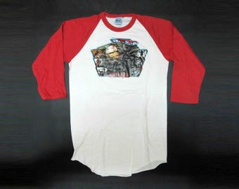 Vintage Star Wars Return of the Jedi Baseball Jersey with Iron-on Transfer Graphic. Circa 1980's.