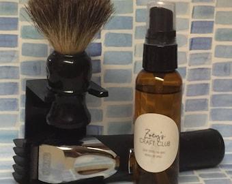 Pre-shave oil; Sandalwood pre-shave oil; natural pre-shave oil