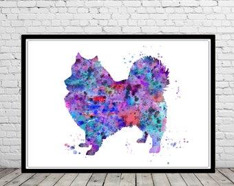 Keeshond, watercolor print, dog print, watercolor Keeshond, Keeshond print, Keeshond dog, Keeshound, watercolor Keeshound (3567b)
