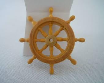 Miniature Ships Steering Wheel ~ Model Ship ~ Miniature ~ Dollhouse ~ Fairy Garden