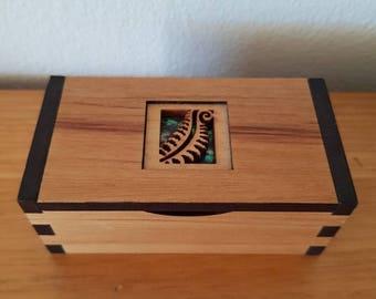 Wooden Chatter Box Ring Box/Trinket Box