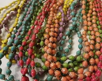 Ugandan Small Paper Bead Necklace