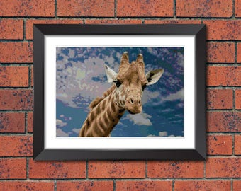 Giraffe counted cross stitch pattern,Download printable PDF #16