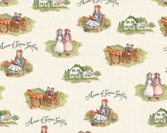 Anne of Green Gables Main Cream - Riley Blake Designs - Penny Rose Fabrics - Quilting Cotton Fabric - by the yard fat quarter half