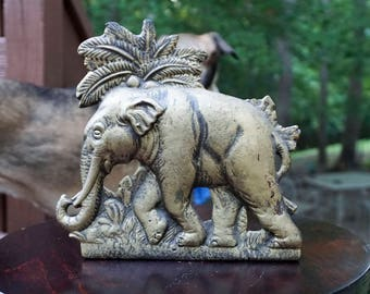 Cast Iron Elephant Doorstop