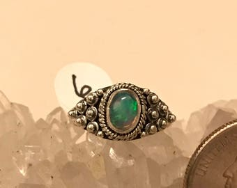 Ethiopian Opal Ring, Size 6
