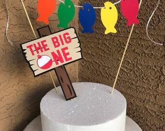 Custom o-fish-ally one, the big one, birthday cake topper