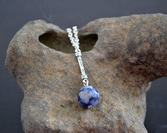 Sodalite necklace, Sodalite pendant necklace, Sodalite pendant, Sodalite jewelry, Blue sodalite necklace, Blue sodalite pendant
