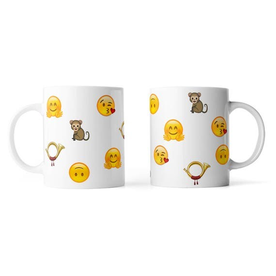 Customized emoji mug, personalise your mug with emojis - Funny mug - Rude mug - Mug cup 4P074