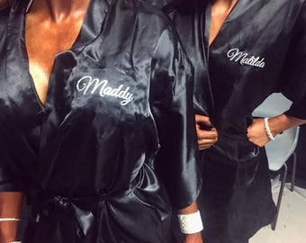 Black Satin Competitor Robe
