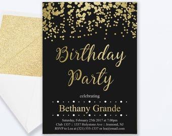 Womens 50th Birthday Invitation Adult 50th Birthday