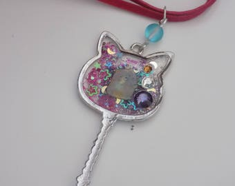 My cat wand necklace