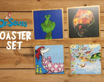 Dr. Seuss Coaster Set 2 w/ base