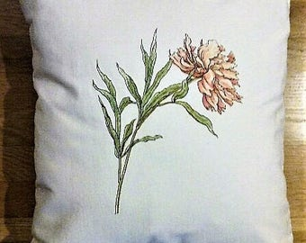 """Peony Pillow Cover 18x18"""""""
