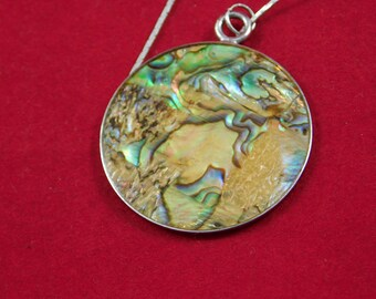 Vintage Necklace with an Abalone Shell Pendant