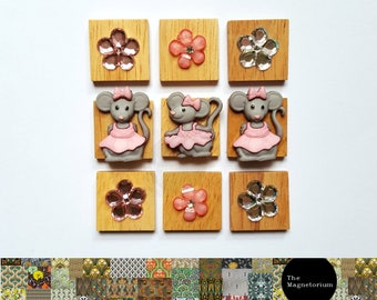Mouse Fridge Magnet Set