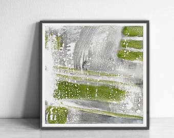 Printable Abstract Art, , instant download art, Abstract Art, living room art, white, gray and green, watercolor abstract , green abstract