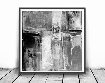 Digital Print, contemporary art, rustic home decor, wall art abstract, digital image, gray, black and white abstract, 12x12,  minimalism art