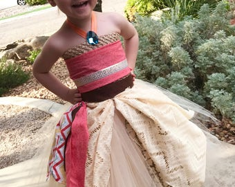 Moana Dress - moana tutu dress - halloween costume - Moana costume - Moana birthday - disney princess dress - disney costume -princess dres