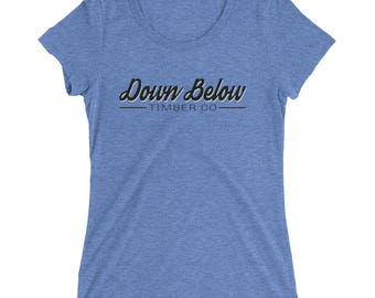 Ladies' short sleeve t-shirt: Down Below Timber Co The Original Tee