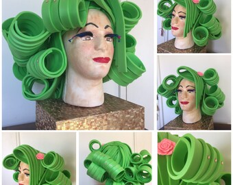Bespoke Drag Queen Curls Foam Wig. Made to Order.
