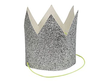 Meri Meri: Mini Silver Glittered Crowns