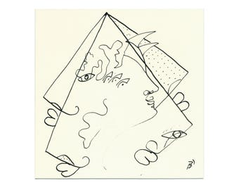 Drawing abstract 15/15 cm (5.9/5.9 inch)