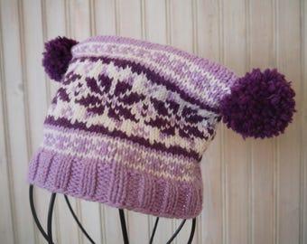 Fairisle Style Winter Hat for baby