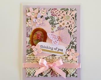 Sympathy Card Handmade Thinking of You Card