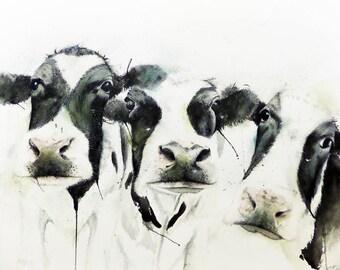moo! cow- art print