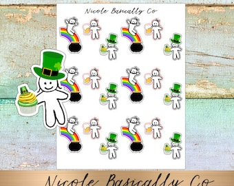 St. Patrick's Day Cutie Pies Planner Stickers