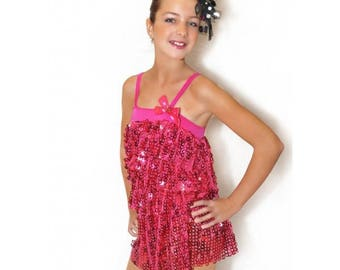 sequins and charleston children dance costume