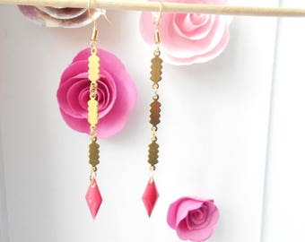 rose gold sequin earrings