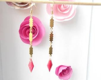 rose gold sequin earrings