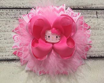 Hello Kitty Hair Bow Hello Kitty Boutique Hair Bow Hello Kitty Stacked Hair Bows Girls Hello Kitty Hair Bow Hello Kitty Hair Clip