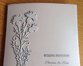 Scottish thistle invite