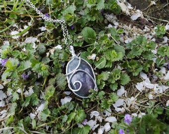 * Helyna * stunning Purple labradorite and silver wire wrap.