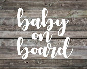 Baby on Board Sticker | Baby on Board Car Decal | Baby on Board | Car Sticker | Vinyl Decal | Window Decal | Baby Shower Gift |