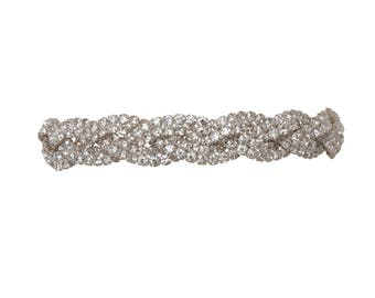 Rhinestone Crystal Braided Belt Choker