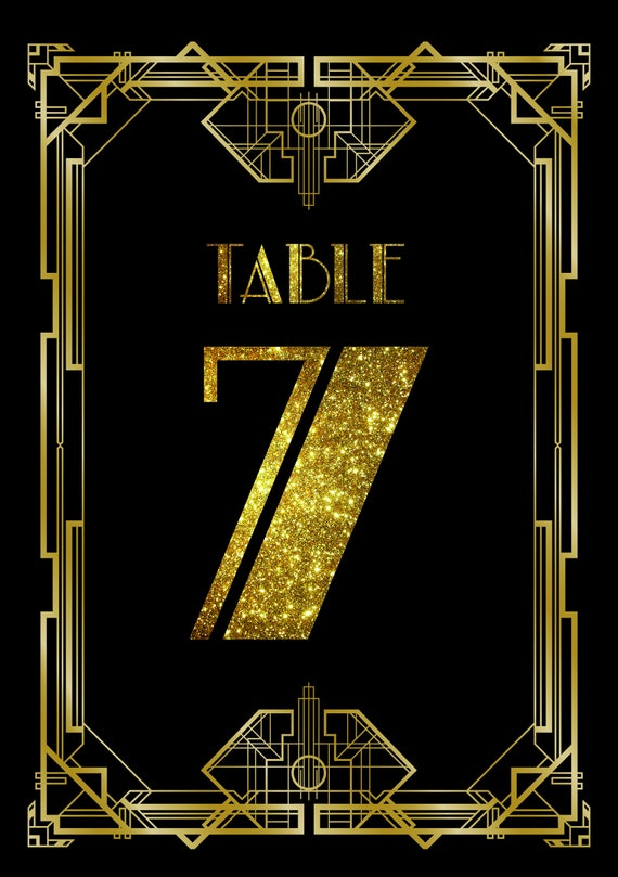 1930's Great Gatsby Style Table Numbers