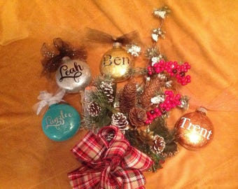 Personalized-Customized Christmas Ornament