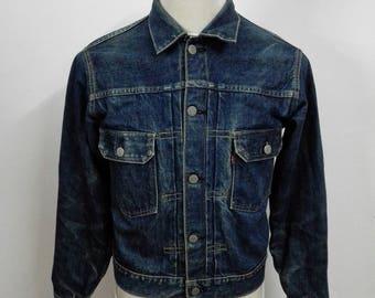 Vintage Levis Big E Lot 71507 Selvedge Denim Jeans Jacket Size 38 (3)