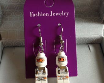 LEGO Mummy Microfig artisan earrings