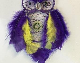 Purple Owl Dreamcatcher