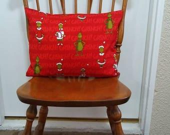 12×16 Grinch Christmas pillow