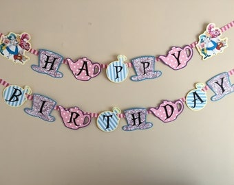 Alice In Wonderland Banner, Tea Party Banner